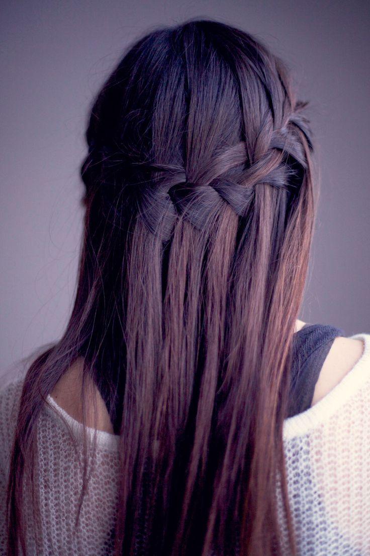 : Purple Hair, Waterfalls Braids, Hairstyles, Waterf Braids, Haircolor, Purplehair, Hair Style, Waterfall Braids, Hair Color