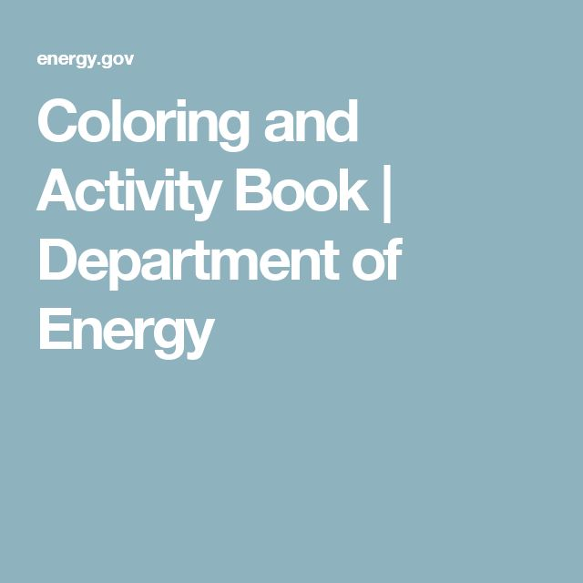 Coloring and Activity Book | Department of Energy