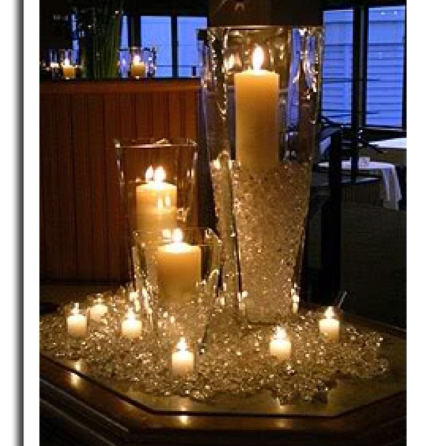pretty #candle & #diamond display #sparklingeverafter