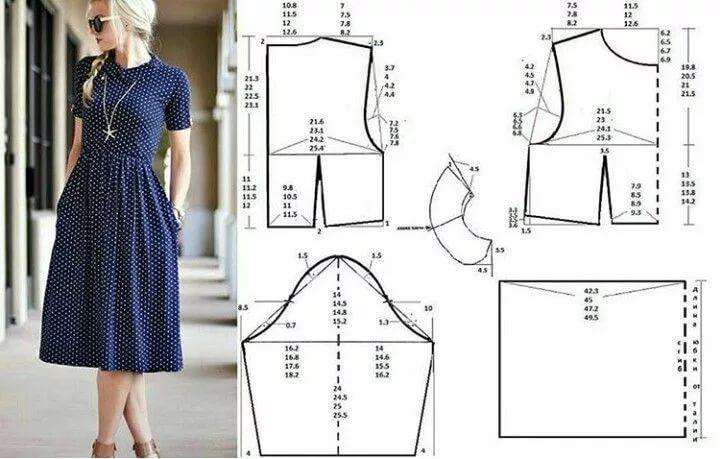 Простая выкройка платья с картинками