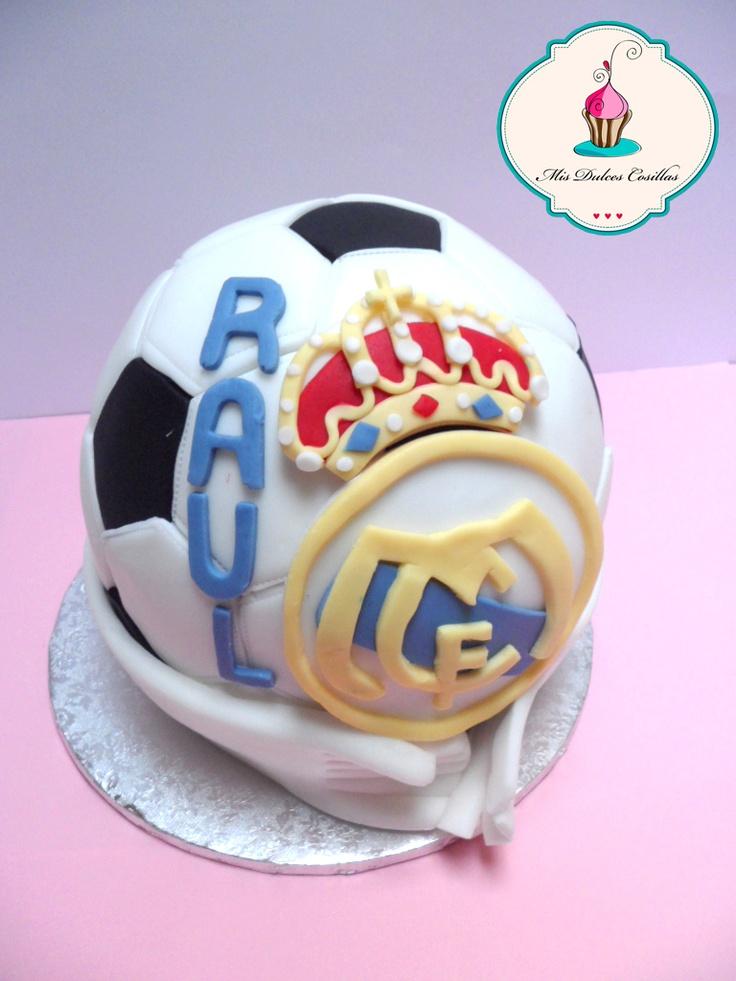 tarta balon del real madrid para celebrar la comunin de raul