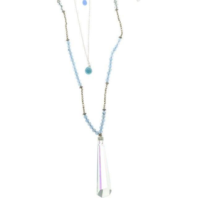 #beautifulnakamolnecklace #abcrystal #colour #aqua #gold #layering #necklace #layeringnecklace #necklaces #necklacesofinstagram #merx #merxjewelry #merxjewellery @MerxInc #merx_inc