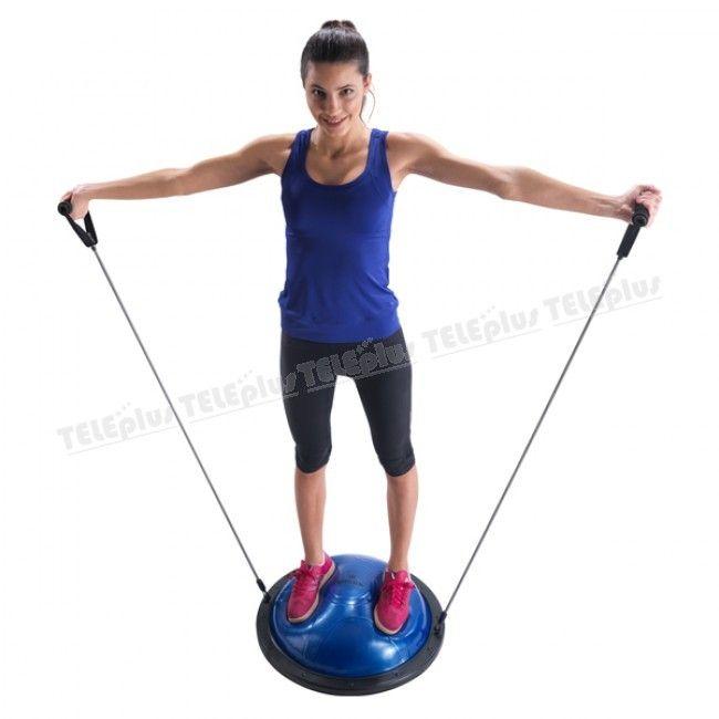 Hattrick BL-30 Bosu Ball -  Bosu ball üzerinde çalışırken hem dengenizi kontrol etmeyi öğrenir hem de karın,bacak,kol ve basen bölgenizi çalıştırabilirsiniz.Bosu ball egzersizleri vücudunuza güç,denge,hız ve esneklik kazandırır.Fizik tedavi amaçlı kullanabilirsiniz. - Price : TL389.00. Buy now at http://www.teleplus.com.tr/index.php/hattrick-bl-30-bosu-ball.html