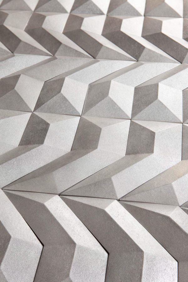 GEN geometric 3D wall coverings for Harmony by Peronda by Dsignio