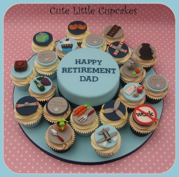 retirement cupcakes! Retirement Pinterest Retirement ...