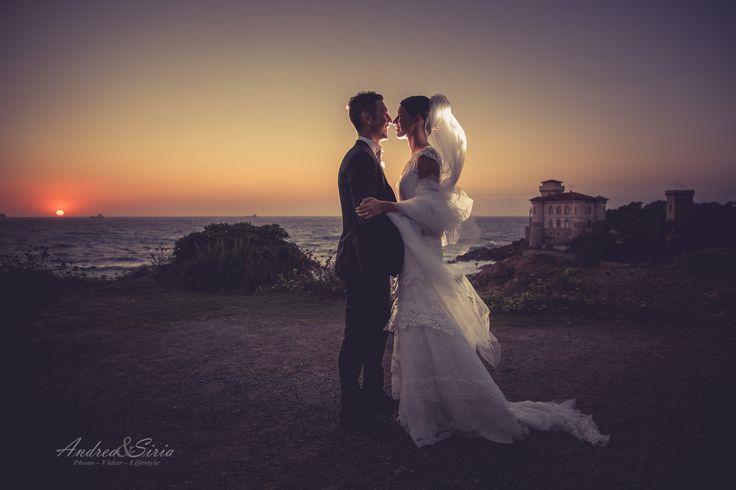 Tramonto al Castello del Boccale... #toscana #love #wedding #sposi #matrimonio #castiglioncello #livorno #castelloboccale #romito