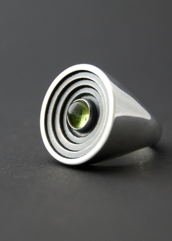 The Arena Sterling silver cast ring by LucieVeilleux on Etsy, $155.00