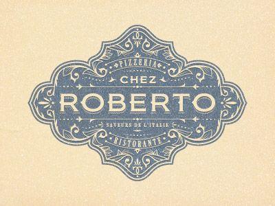 Roberto - Decorative, vintage logo badge (by JC Desevre).