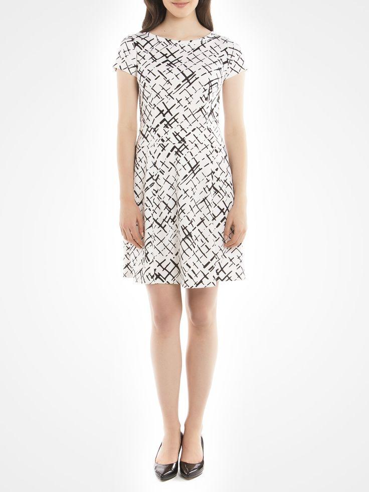 Flare Ponte dress - Natural Work dresses