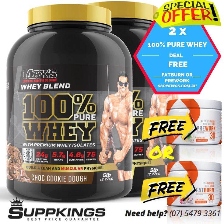 MAX'S 100% PURE WHEY PROTEIN WITH PREMIUM WHEY ISOLATES 10LB