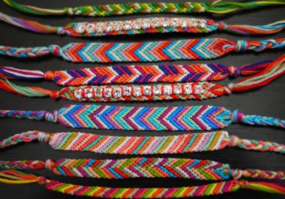 DIY friendship bracelet. (soooo 1991, but so nice!)  @Liz Helms we need to make these!