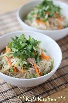 ツナとパクチーのエスニックサラダそうめん by KT121 [クックパッド] 簡単おいしいみんなのレシピが245万品