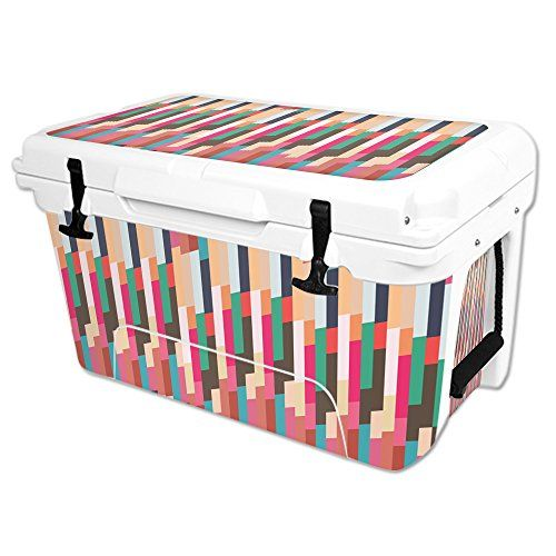 MightySkins Protective Vinyl Skin Decal Wrap for RTIC 45 qt Cooler cover sticker Crazy Stripes -- You can get additional details at the image link.(This is an Amazon affiliate link and I receive a commission for the sales)