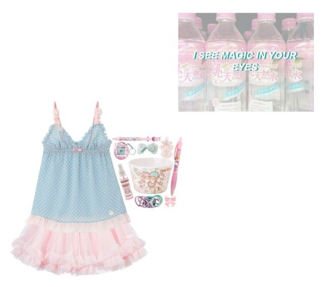 """""""Everything went so sweet, until you tried to kill me"""" by murasaki666 ❤ liked on Polyvore featuring LILI GAUFRETTE, Cotton Candy, Pumpkin Patch and Hello Kitty"""