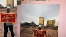 Chiefs fan buries 'Chiefs Kingdom' banner at Las Vegas Raiders stadium construction site, picture claims – FOX 4 Kansas City WDAF-TV   News, Weather, Sports