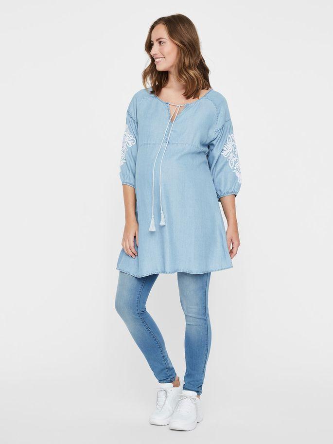 5d0c26c7257 Woven maternity tunic | MAMALICIOUS | 2019FW in 2019 | Maternity ...