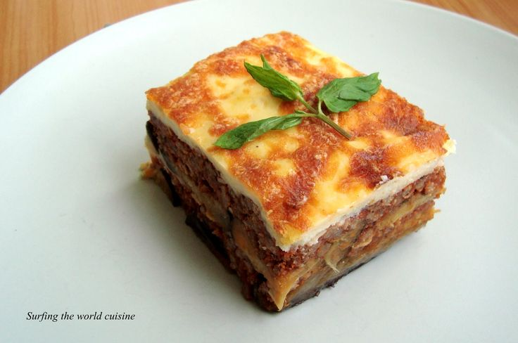 Moussaka with beef