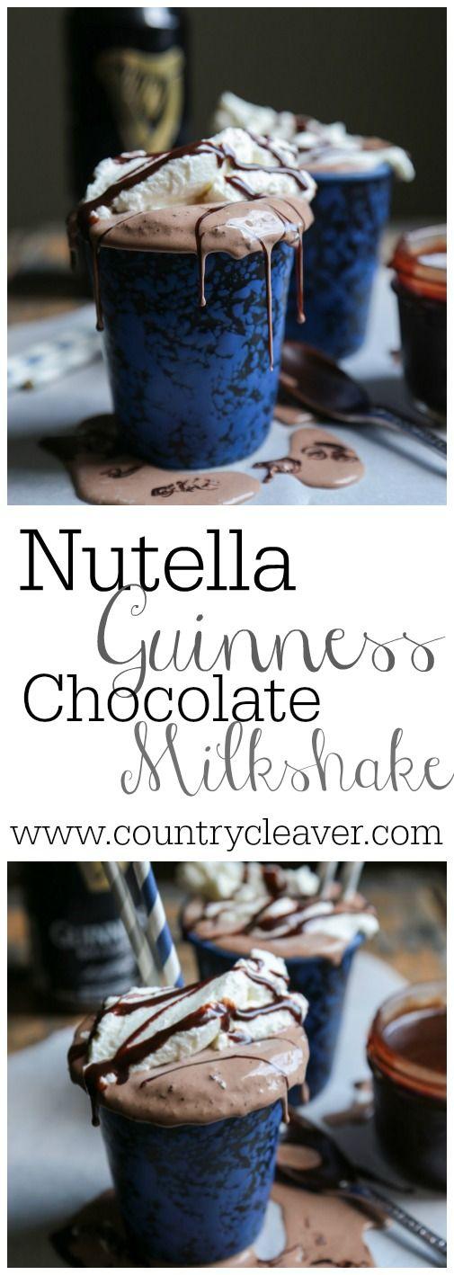 Nutella Guinness Stout Chocolate Milkshakes