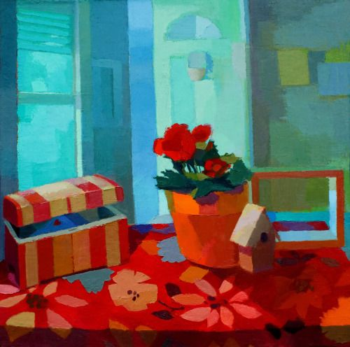 Oil painting on canvas by jennifer o 39 connell contemporary for What is canvas painting