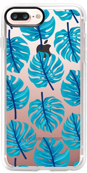 Casetify iPhone 7 Plus Case and iPhone 7 Cases. Other Plant iPhone Covers - Blue Monster Leaf by Marta Olga Klara | Casetify