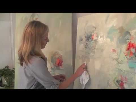 In the Studio, Sarah Otts, March 2014 See her palette painting  ***