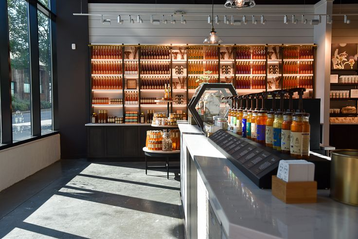 The Honey wall in our Atlanta Store is bee-utiful!