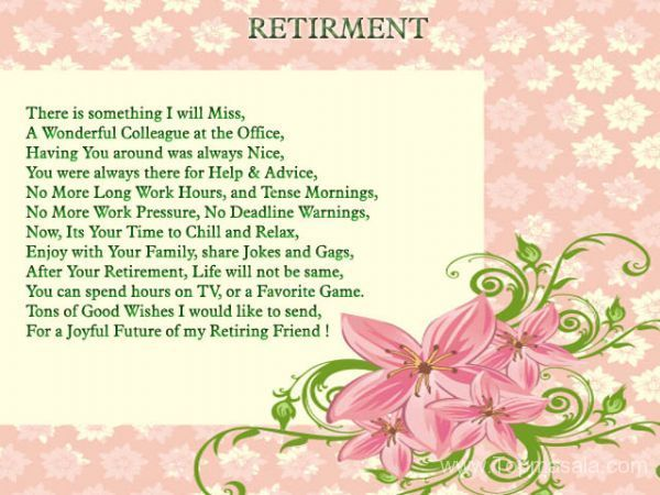 Happy Retirement Poem Pictures to Pin on Pinterest - PinsDaddy