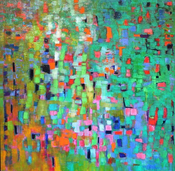Penelope Stutterheime, Refuge IC, 2016, Oil on Linen, 130 cm x 130 cm,  Everard Read