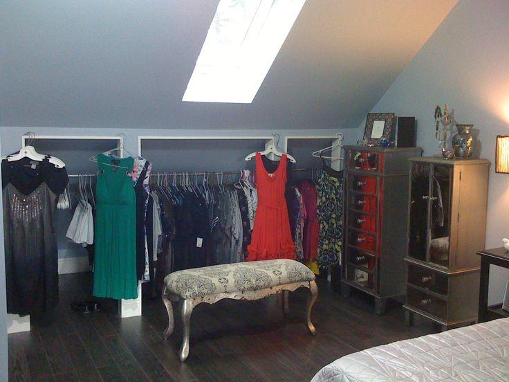 83 best closet images on pinterest Dormer closet ideas