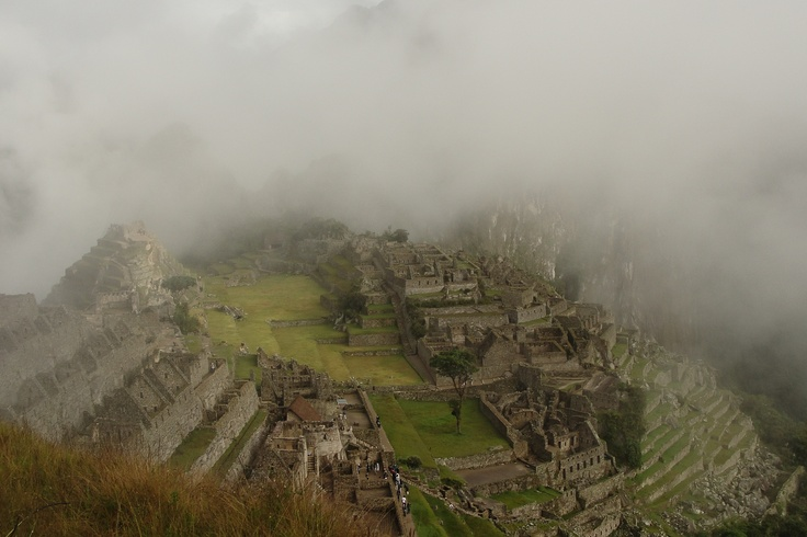 """Macchu Picchu - My dream destination realised in January 2012.     """"I look up at the stone stairwell in front of me stretching upwards endlessly like a gargantuous rock snake. Far ahead I can just make out tiny pinprick shadows trudging slowly along the path silhouetted against the stark white skyline. Lead legs push on, one achingly slow step at a time, heart pounding frantically, head dizzy, soul invigorated. This is the INCA TRAIL and it's only day two..."""" January 2012"""