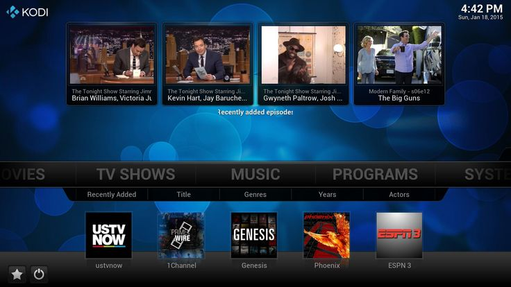 15 best Kodi addons in 2015 that are cord-cutter's friends. These plugins can stream Movies, TV Shows, Music, Sports, etc. to your Kodi media center. p2