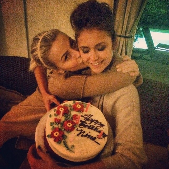 Pin for Later: 18 Times You Wished You Were Friends With Nina Dobrev and Julianne Hough When Julianne Celebrated Nina's Birthday With a Homemade Cake