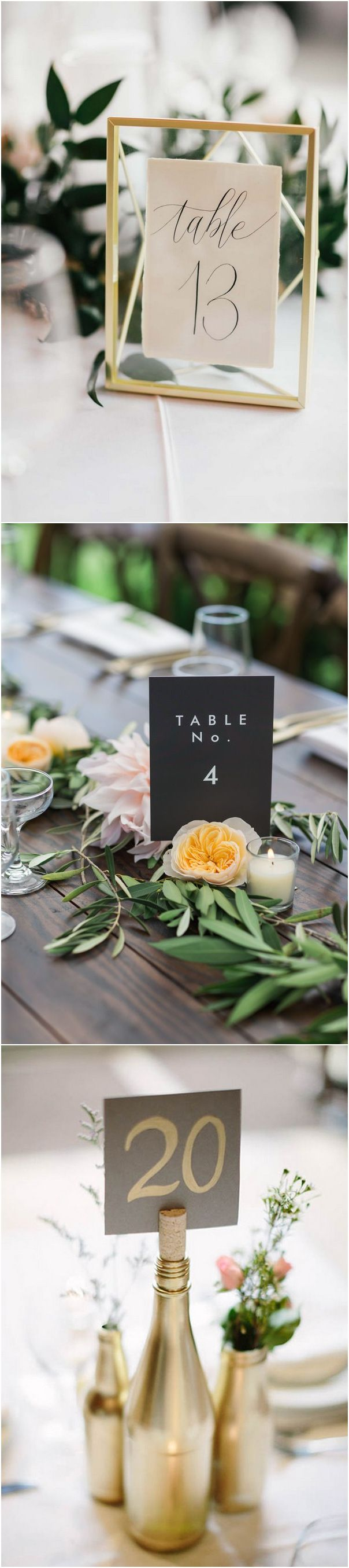 unique wedding table numbers ideas