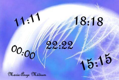Les heures doubles (ou heures miroirs) - Signification -