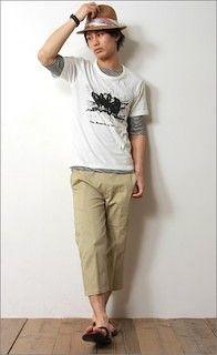 ラフな感じに。Tシャツ 重ね着のアイデア