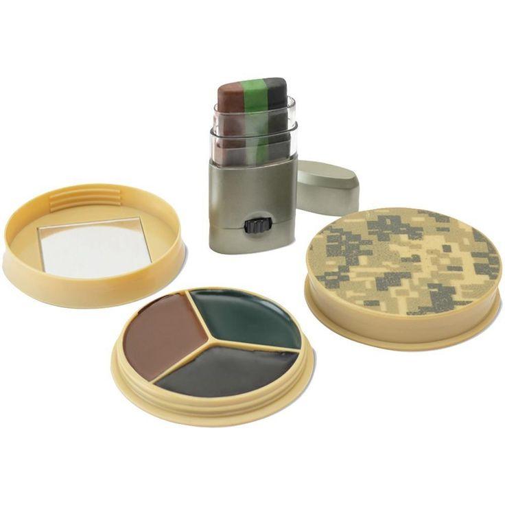 HME HME-CMOFPDS 3 Color Camo Face Paint Kit