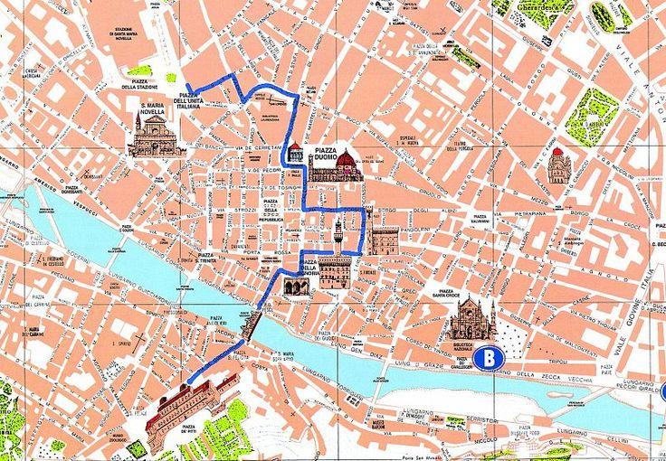 cartina firenze con monumenti - Cerca con Google