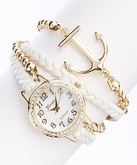 White Anchor Bracelet Watch