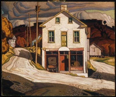 CASSON, A.J. (1898-1992) Canadian artist - 'Store at Salem' (1931)