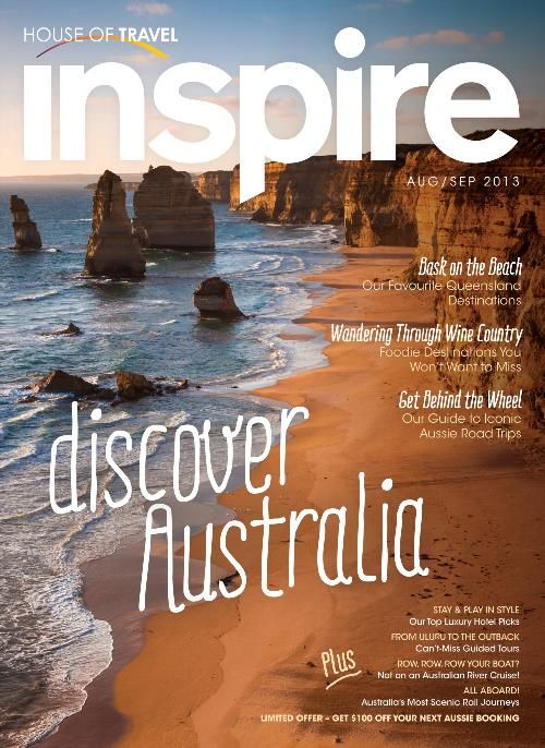 Be inspired by Aussie's best bits in the Discover Australia edition of House of Travel's Inspire Magazine.
