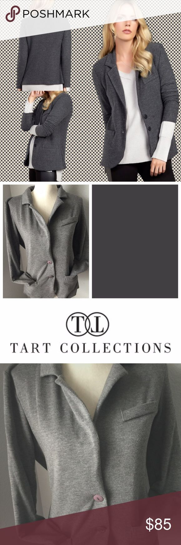 Tart Collections ESSENTIAL BLAZER Tart Collections ESSENTIAL BLAZER  Tarts most loved blazer it's better than ever.  It instantly takes your everyday outfit to the next level.  The condition is like new.  There are shoulder pads in the jacket.  Can easily be taken out if you prefer not to have them.  Modal, Cotton and Spandex. Tart Collection Jackets & Coats Blazers