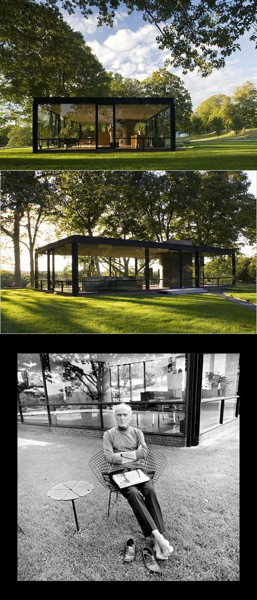 Philip Johnson's Glass House - New Canaan, CT - mid-century America design