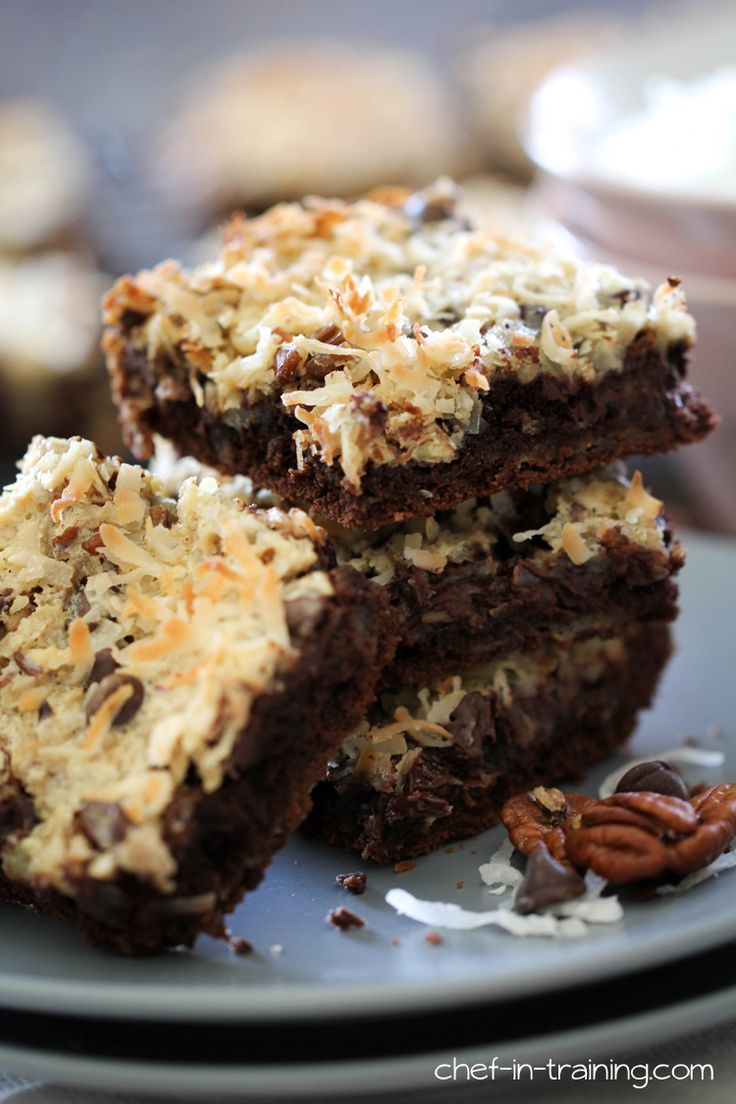 Coconut Chocolate Bars Recipe Food Cakes Devil And Cakes