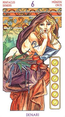 SIX OF PENTACLES~Relationship meaning~ A sense of security. There is security in establishing a home base and a common purpose. Generosity; a gift or a treat.