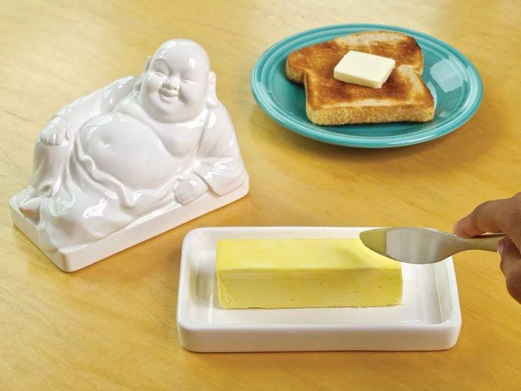 Mantequera Ceramica Diseño Deco Buda - $ 359,00 en Mercado Libre