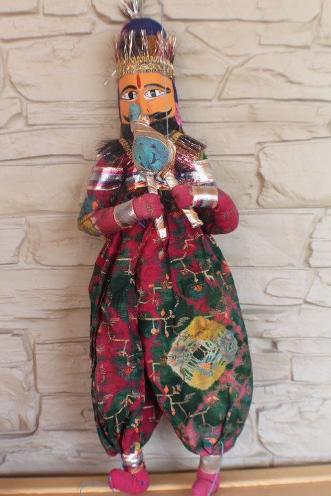 Antique Indian Marionette Doll, Indian Puppet Doll, Ethnic Doll, National…