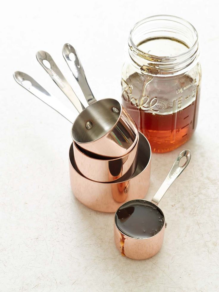 Copper Measuring Cups | The warm, lustrous shine of copper has a long history in the kitchen. Our elegant measuring cups carry on the tradition.