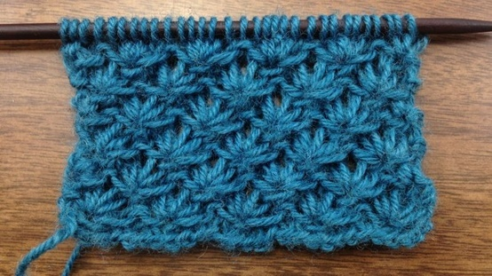 Learn How to Knit the Lotus Flower Stitch  Reminds me of the Crochet Star Stitch!