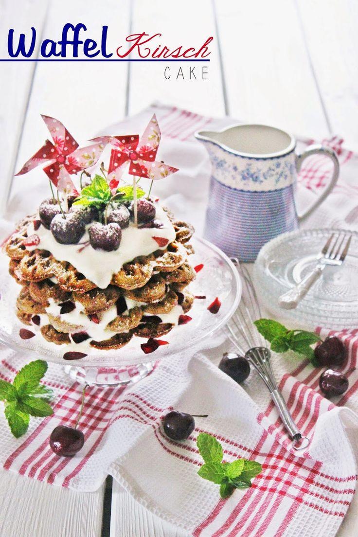Waffel Kirsch Cake mit Topfencreme