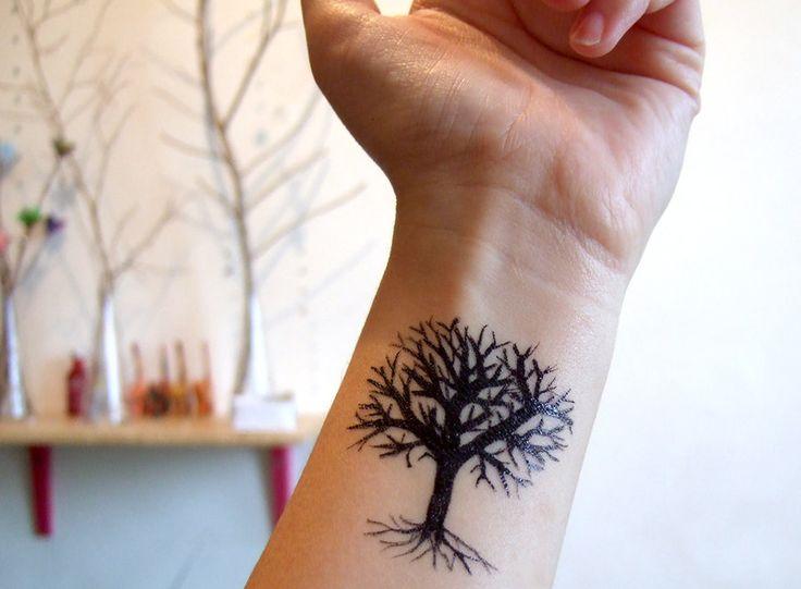 tree tattoos wrist